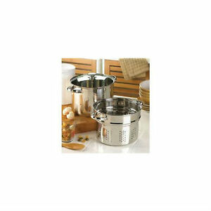 Pasta Cooker Set Stainless Steel See Through Lid Steamer
