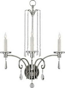 Imperial Silver And Swarovski Crystal Wall Sconce