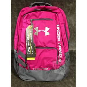 Under Armour 1263964 Hustle Backpack II Storm 1 - Tropic PinkGraphiteWhite