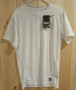 Nike Pro Combat Dry Fit White Compression Base Layer Short Sleeve Shirt 3XL