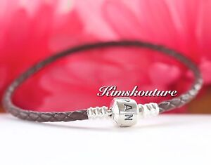 Authentic Pandora Moments Single Leather Bracelet Brown 590705CBN-S  6.9 7.5 8.1