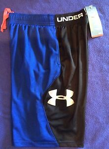 NWT Under Armour from downtown LIGHTWEIGHT mesh ROYALblk shorts YOUTH boys M YM