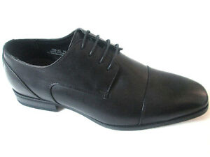 Petter Prestige Pu-Leather Dress Men's Shoes Black London Cap-Toe Italian Design