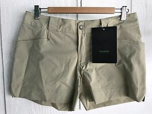 NWT Arc'teryx GEAR Womens Hiking Shorts Toasted Coconut sz 8. Traverse active SP