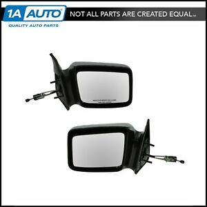 5x7 Manual Remote Side View Mirrors Left & Right Pair Set for 87-96 Dodge Dakota