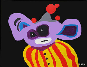 Purple Clown Painting by International Artist Brent Litsey London Paris NYC