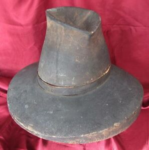 1600s ANTIQUE WOODEN HATBLOCK MOULD FOR MUSKETEER TYPE MILITARY HATS XTR. RARE