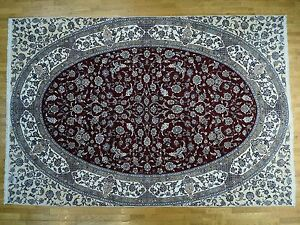 13'x19' Oval Design Anatolian 250 Kpsi Mansion Size Wool And Silk Rug R34708
