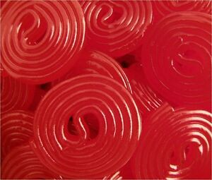Broadway Red Strawberry Licorice Wheels - Bulk Candy 15oz SUPER SAVER