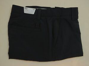 Men's UNDER ARMOUR Size 34 UA Match Play GOLF Shorts BLACK 1253487 001