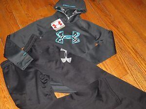 NWT UNDER ARMOUR YOUTH BOYS L (14-16)  HOODIE SWEATSHIRT & SWEATPANTS OUTFIT