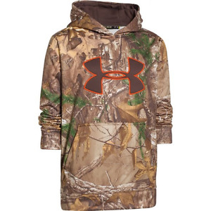 Under Armour Youth's Armour Fleece Camo Big Logo Hoodie Realtree All Purpose Xtr