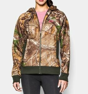 Under Armour Women's Full Zip Hoodie Realtree All Purpose Xtra XL 1247102