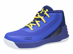 Boy's Under Armour Curry 3 Basketball Shoes BlackWhite