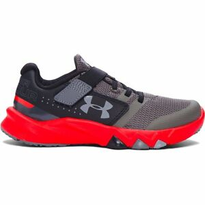 Boy's Under Armour Primed Running Shoe GraphiteAnthem RedSteel