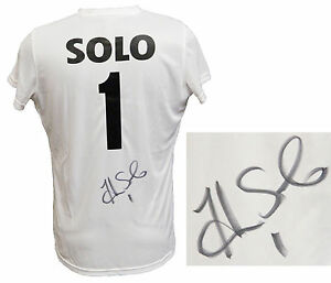 HOPE SOLO Signed Nike White Dry Fit Soccer Jersey wName & Number - SCHWARTZ