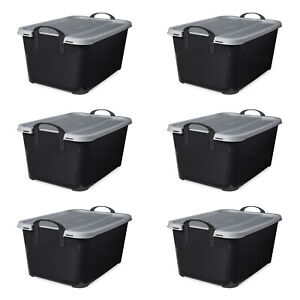 Life Story Stackable Locking Closet amp; Storage Box 13 Gallon Containers 6 Pack