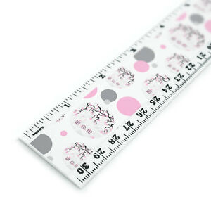 Cherry Blossom Tree Pink Japanese 12 Inch Standard and Metric Plastic Ruler $6.99
