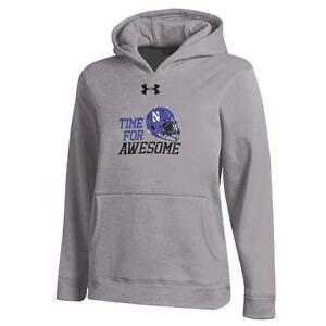 Youth Heather Gray Northwestern University Under Armour Hoodie