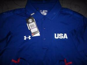 UNDER ARMOUR USA GOLF POLO SHIRT SIZE M S  MEN NWT $69.99
