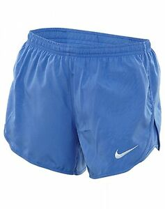 Nike Dry Tempo Short Womens 831281-478 Comet Blue Dri-Fit Running Shorts Size L