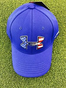 Under Armour Men's Blitzing Stretch Fitted HatCap- Royal- SM