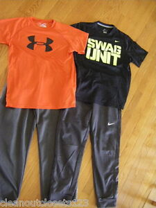 NIKE Swag Unit Therma-Fit athletic pants Duo Dry Under Armour shirt Large lot 4