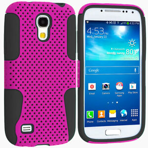NEW Mesh Hybrid HardSoft Dual Layer Case Cover for Samsung Galaxy S4 Mini i9190