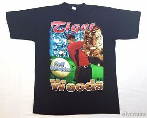TIGER WOODS Vintage T Shirt 90's RAP HIP HOP STYLE G FUNK SPORTS GOLF MASTERS