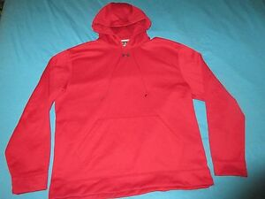 UNDER ARMOUR Mens Burgundy Hoodie Size Extra Large XL