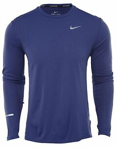 Nike Dry Contour Mens 683521-508 Purple Dust Dri-Fit Running Top Shirt Size L