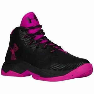 New in Box Under Armour Girl's Curry 2.5 Basketball Shoes Sneakers Black Pink