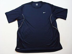 Nike Fit Dry T-shirt Size Extra Large XL Navy Men's A15