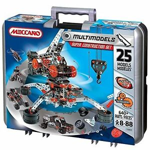 Super Construction Set for Children Ages 8+ Multimodel Real Metal Parts 25 Piece