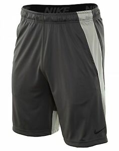 Nike Dry 9 Inch Short Mens 742517-039 Fog Grey Dri-Fit Training Shorts Size L