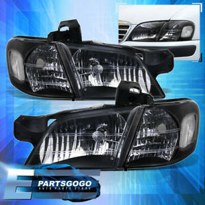 For 97 05 Chevy Venture Oldsmobile Silhouette Black Housing Headlights  Corner
