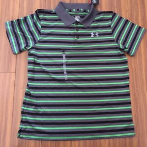 New Under Armour Youth Boys Xlarge Loose Golf T Shirts Green Black Gray $40
