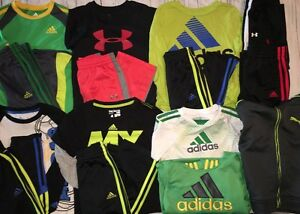 Boys 4T Under Armour Adidas Puma Athletic Lot Clothes Shirt Pants Warm Up Hoodie