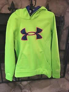 Girl's Size Youth X Small YXS Size 7 Under Armour Hoodie Bright Green