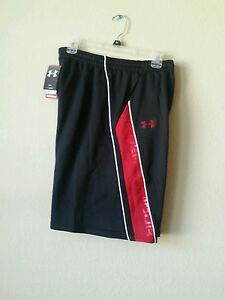New Under Armour Basketball Active Heat Gear NBA Black Red1219115 001 sz L