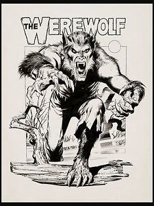 The Werewolf 3 D Poster Art by Neal Adams VTG Dynamite Magazine 1979