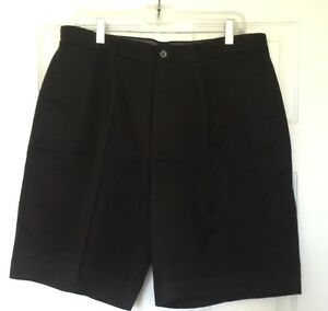 CALLAWAY Golf Mens Black 100% Cotton Shorts Size 34