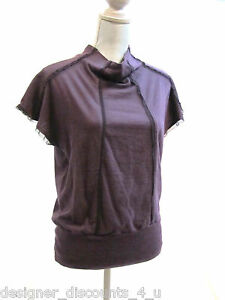 Clary sage organics plum Yoga Gym Workout athletic shirt TOP cover Size M NWT