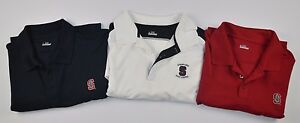Lot of 3 UNDER ARMOUR Mens XL Stanford University Cardinals Golf Polo Shirts