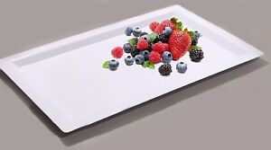 Disposable Food Tray Party Wedding Plastic Serving Tray Rectangle - Pack of 4