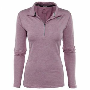 Nike Dry Element Womens 685910-565 Orchid Dri-Fit Running Top LS Shirt Size M