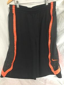 Nike Dri-Fit Men's XL Athletic Shorts BlackOrange drawstrings pockets521112018