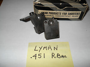Lyman # 45 cal.  .451 round ball 1 cavity mold