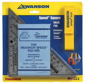 Swanson 7.25 in. L x .875 in. H Aluminum Speed Square Silver $13.69