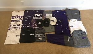TCU Clothing Lot! Nike Dri Fit Polo's Jackets Colombia PSG's Hats Shorts T's